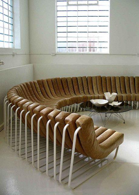 Haldane Martin, Steel and Leather Modular 'Songololo' Sofa, 2007.