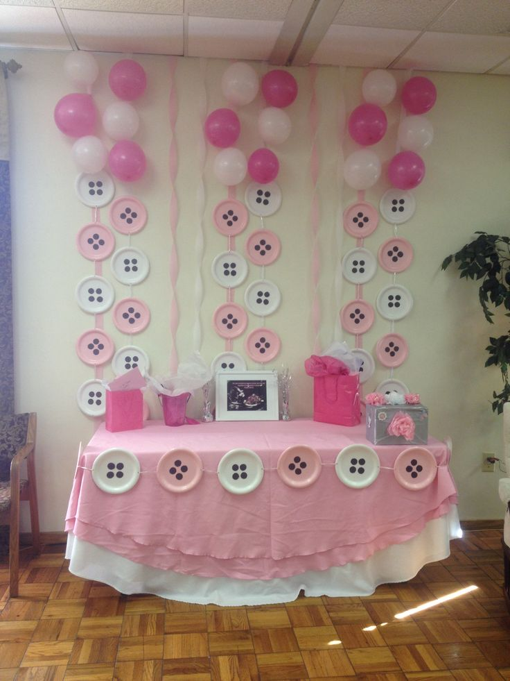 Baby shower gift table baby shower pinterest for Baby girl shower decoration