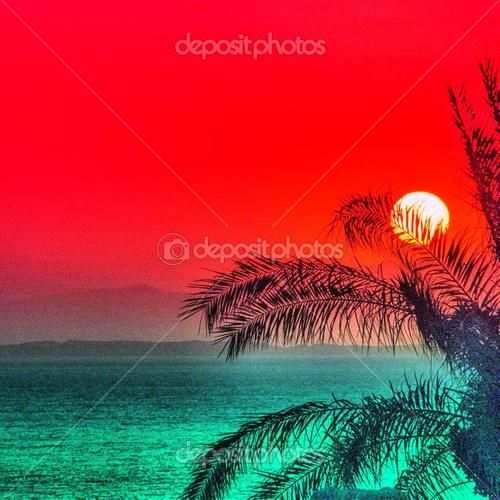 Tiran island gorgeous sunrise