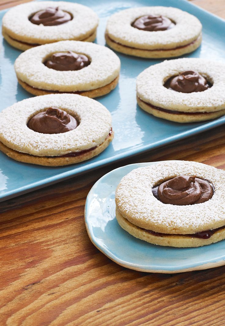 Chocolate-Topped Linzer Cookies | Autumn and Christmas Goodies | Pint ...