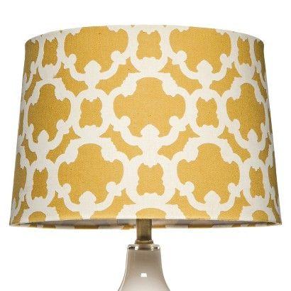 threshold flocked lamp shade large. Black Bedroom Furniture Sets. Home Design Ideas