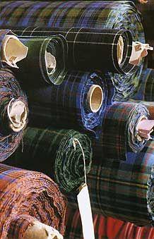 WSH♥ rolls and rolls of tartan fabric    #tartan #williams-sonoma #plaid