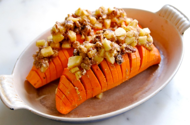 Hasselback Sweet Potatoes Sounds good - must use real butter though ...