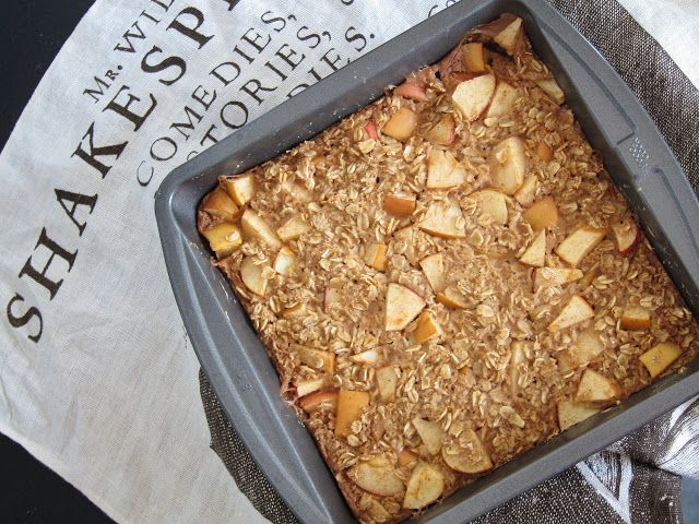 The Oatmeal Artist: Apple Pie Baked Oatmeal (plus 1 tbsp maple syrup)
