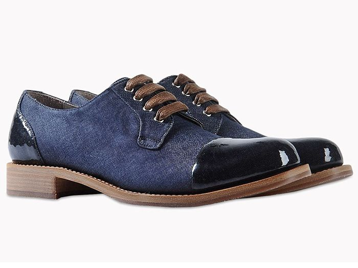 Brunello Cucinelli Denim Low Top Lace Up Derby Shoes Footwear Silicone
