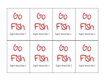fish Go game go Word Game sight Sight word Primer Pre  Fish