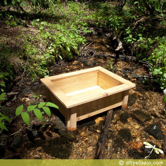Large Elevated Cedar Wood Fairy Garden Planter Box For