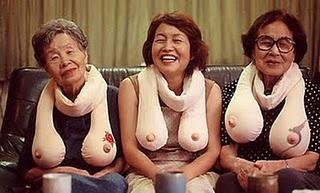 boob scarves! So funny!