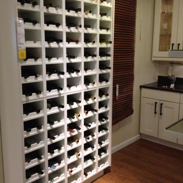 ikea wine shelf basement pinterest