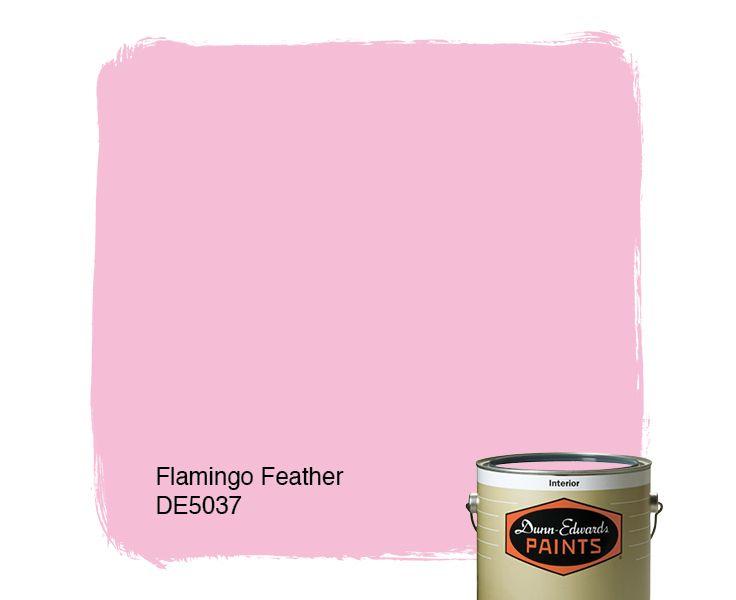 Dunn edwards paints paint color flamingo feather de5037 for Flamingo feather paint