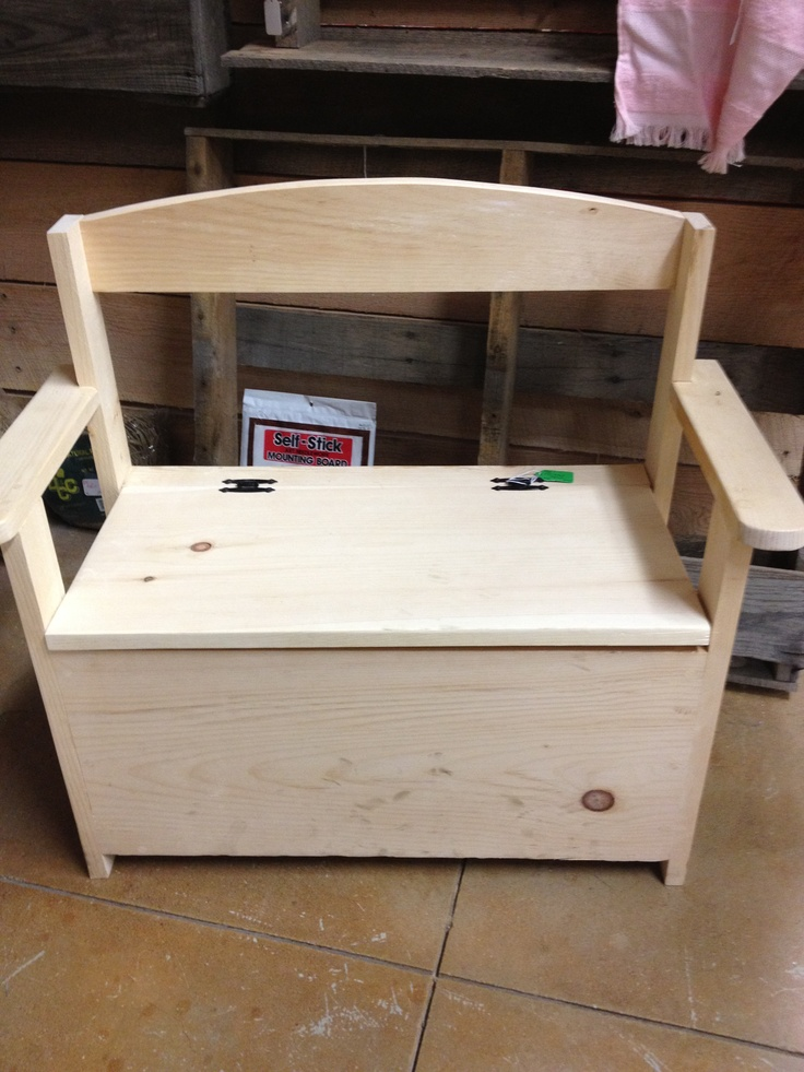 build a toy chest bench