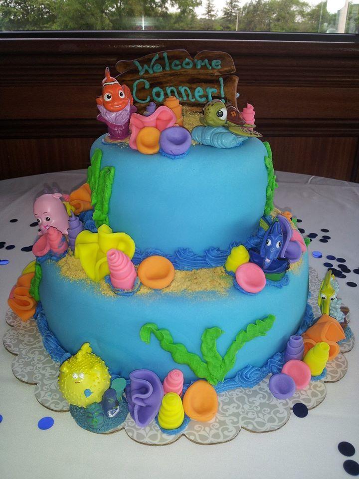 nemo baby shower cake cake ideas for karlene pinterest