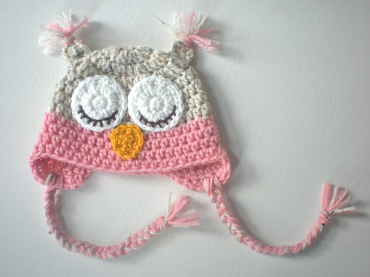 PATTERN: Owl hat, size newborn to adult, easy crochet PDF ...