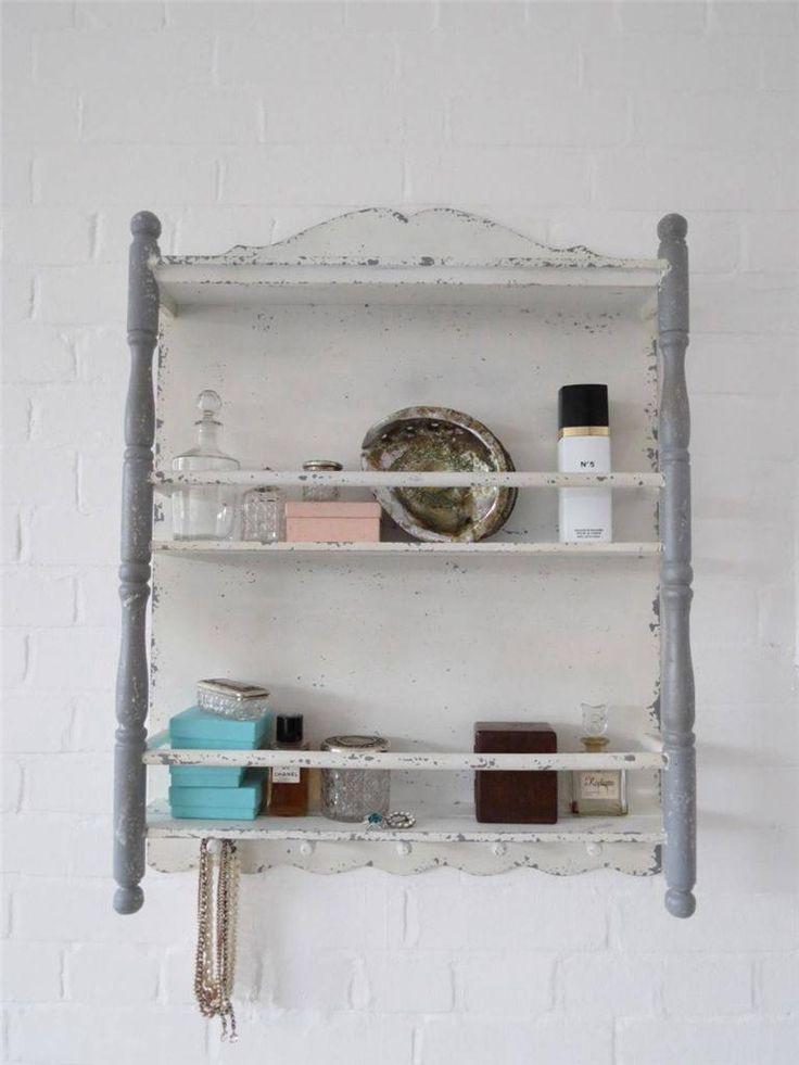 shabby chic bathroom wall shelf. Black Bedroom Furniture Sets. Home Design Ideas