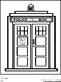 Dr Who Coloring Pages Tardis Coloring Pages Pinterest Tardis Coloring Page