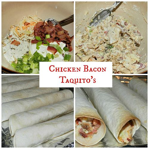 Chicken Bacon Taquito | Recipes to try | Pinterest