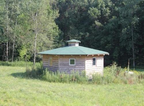 the octagon cabin tiny house pinterest
