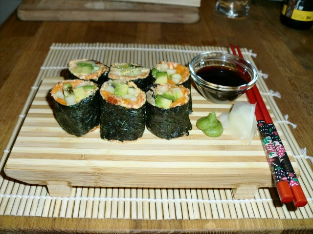 Riceless sushi - no recipe link, just a reminder that sushi isn't ...