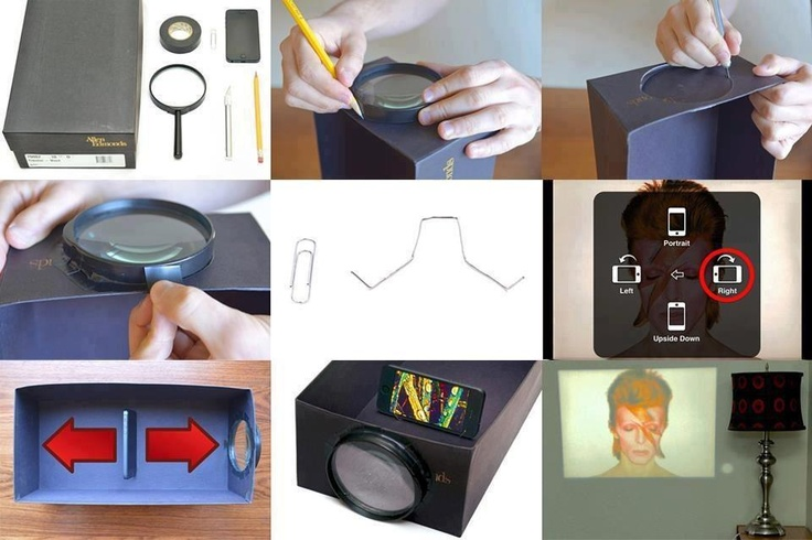Diy iphone projector summer pinterest for Iphone projector