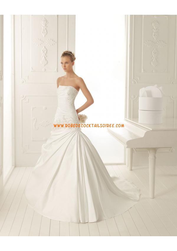 Belle robe bustier pas cher 2013 blanche robe de mariée satin