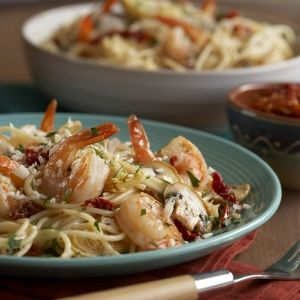 shrimp and artichoke pasta gordon can have the shrimp and i ll just ...