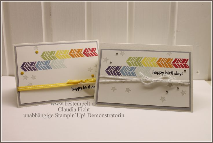 Stampin Up! Sale-A-Bration, Petal Parade, Fähnchenfieber, Rainbow-Colors