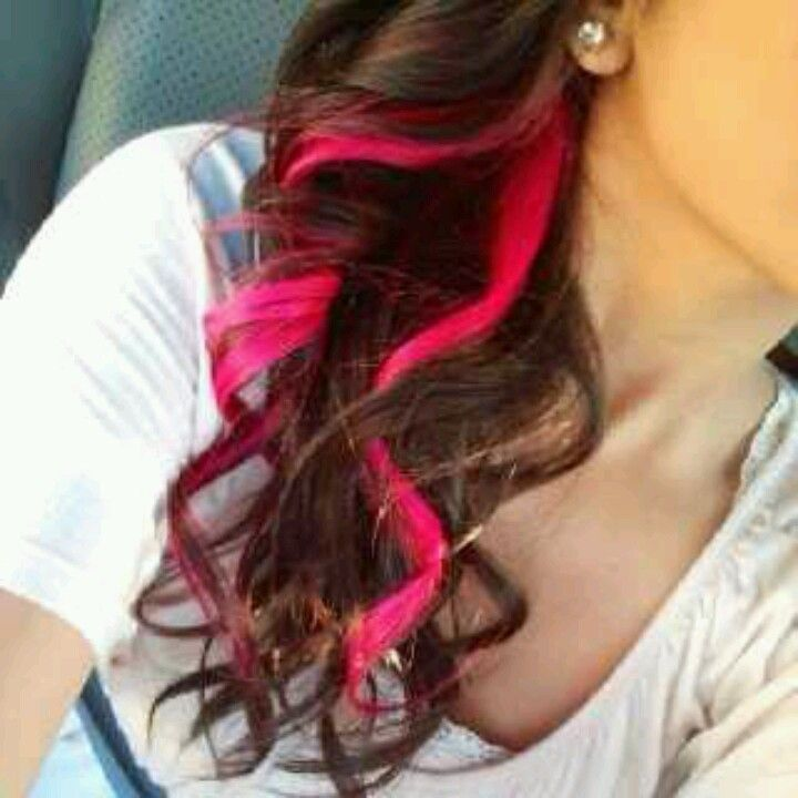 25 Best Ideas About Colored Hair Streaks On Pinterest Hair