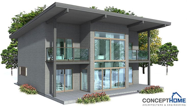 House plans and design modern house plans with balcony on for Small house design 2nd floor