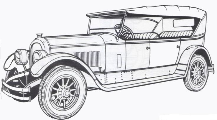pin old car coloring - photo #5