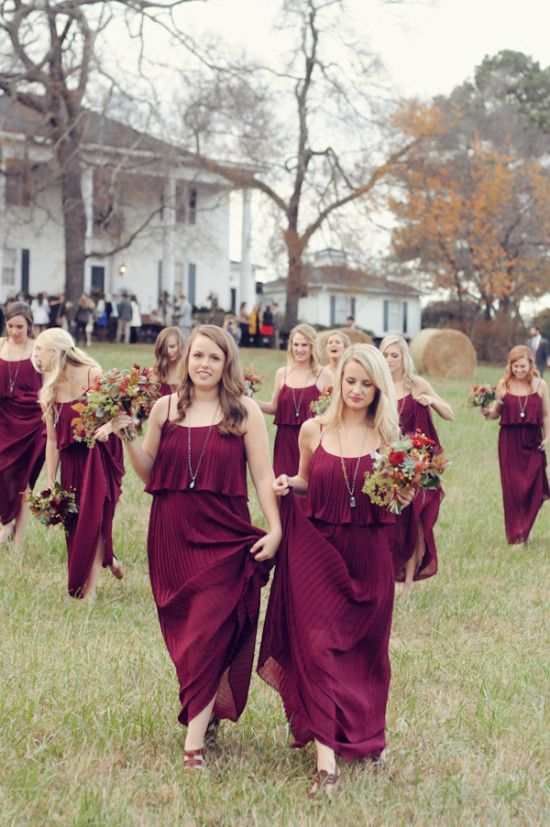 Show me your Bordeaux, burgundy and wine colored Bridesmaid ...