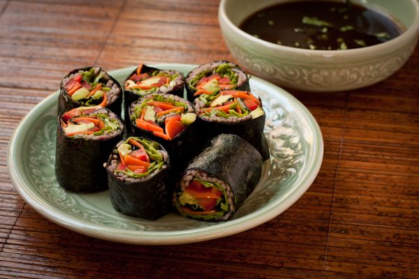 Soba Noodle Sushi Rolls from Blissful Bites by Christy Morgan | a ...