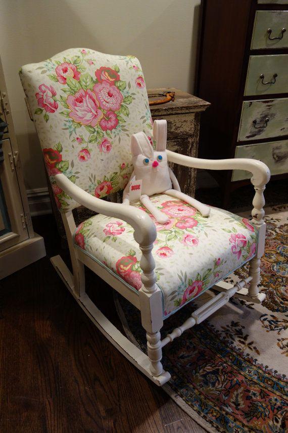 Antique . rocking chair . upholstered seating . secret garden . botan ...