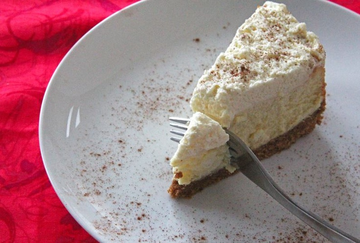 Eggnog Cheesecake With Gingersnap Crust. | Chessecake & Pie | Pintere ...