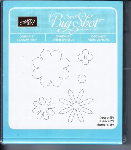 Stampin Up! Blossom Party Originals Big Shot Sizzix Bigz Die