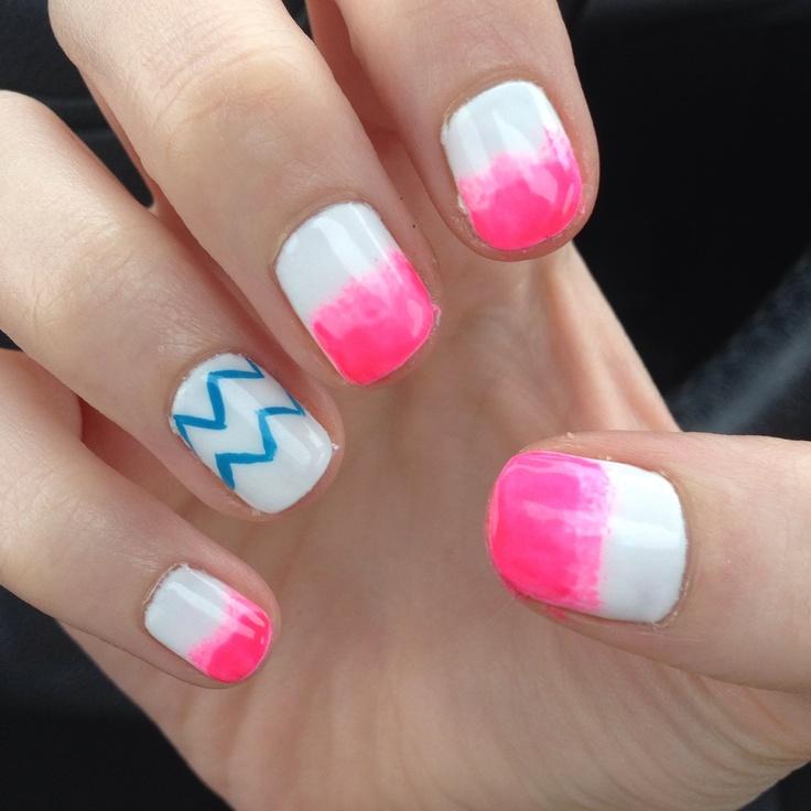 Ombré and chevron shellac nails | Nails | Pinterest