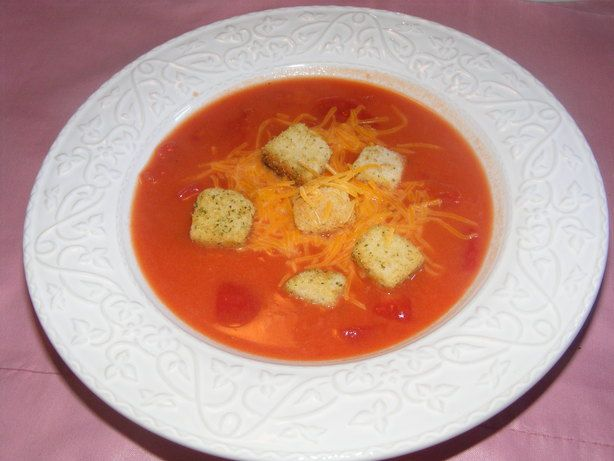 Tomato cheese soup: http://www.cooks.com/rec/view/0,1848,147177-226197 ...