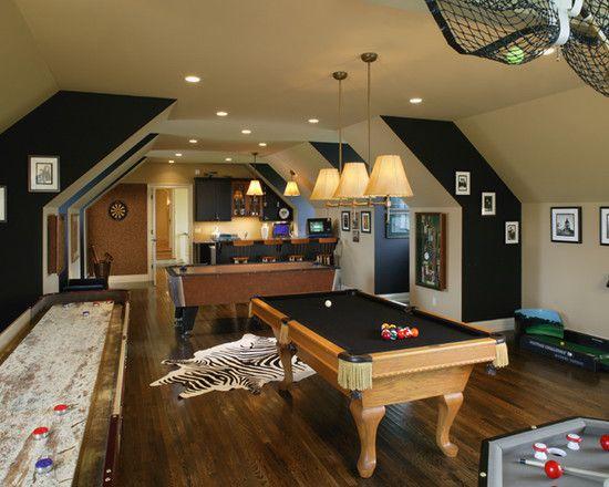 The Ultimate Game Room Shuffleboard Billiard Table