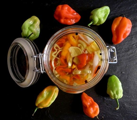Pickled Habanero Chili Peppers - How to make Red Chili Peppers sauce ...