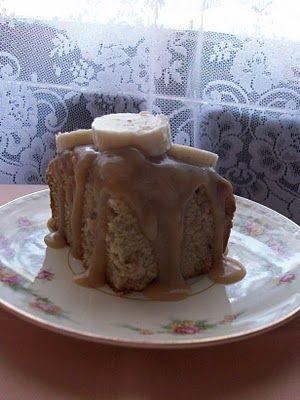 Sticky Toffee Banana Pudding Cake Yum! adelightsomelife.com