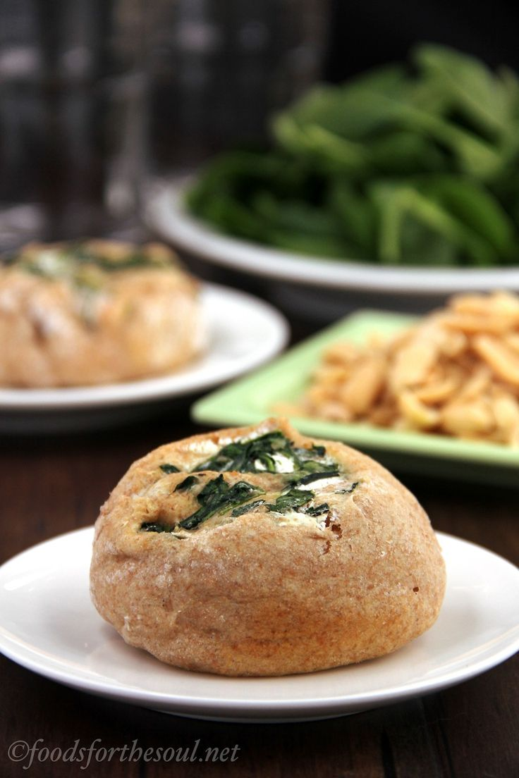spinach and cream cheese savory cinnamon rolls. easy! tofutti and soy ...