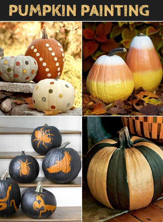 Pumpkin Painting Ideas Fall Decor Pinterest