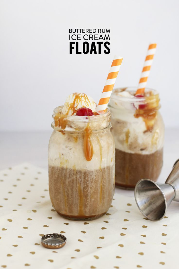 Boozy Buttered Rum Ice Cream Floats | Photography: Freutcake - www ...