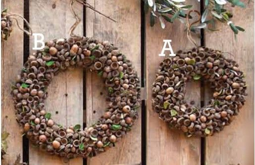 Natural Acorn Wreaths | Decor Steals~Enjoy Today's Steal from DECOR STEALS