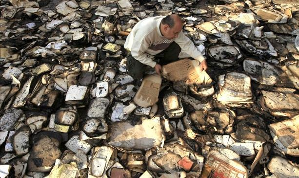 So sad... Rare Volumes Destroyed in Blaze at Egyptian Institute Founded by Napoleon