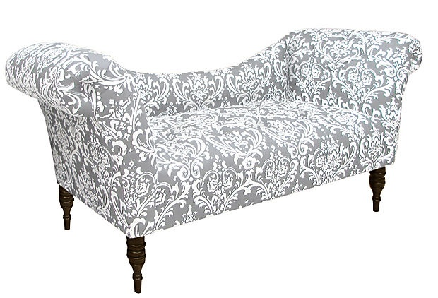 cameron tufted chaise gray white