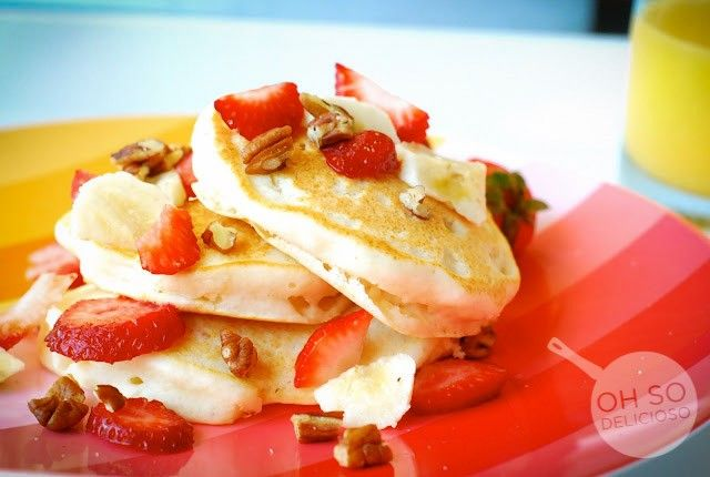 Tropical Pancakes with Coconut Syrup | Recipes | Pinterest