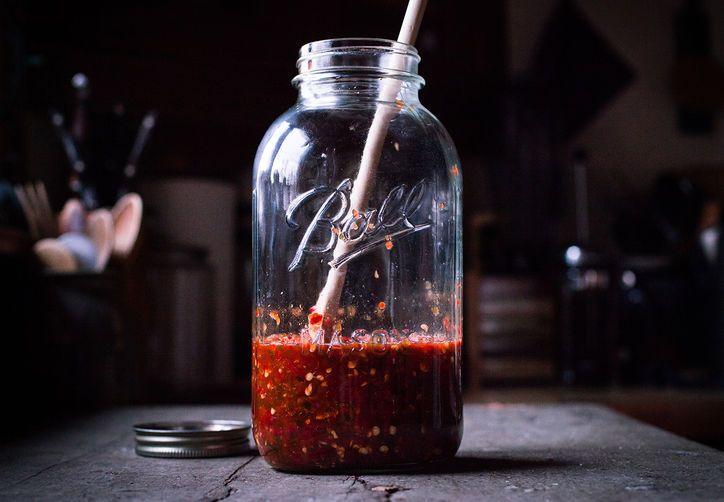 Homemade Sriracha-May need this with the Sriracha shortage