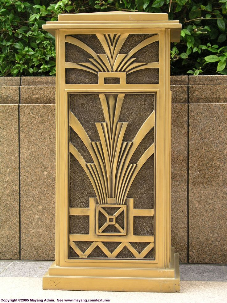 deco trash can art deco pinterest