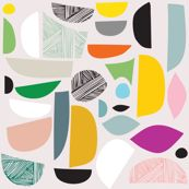 my shapes  #Spoonflowerwrapper