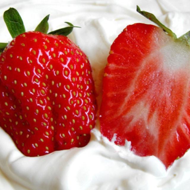 Strawberries and cream | ~Strawberries & Cream~ | Pinterest